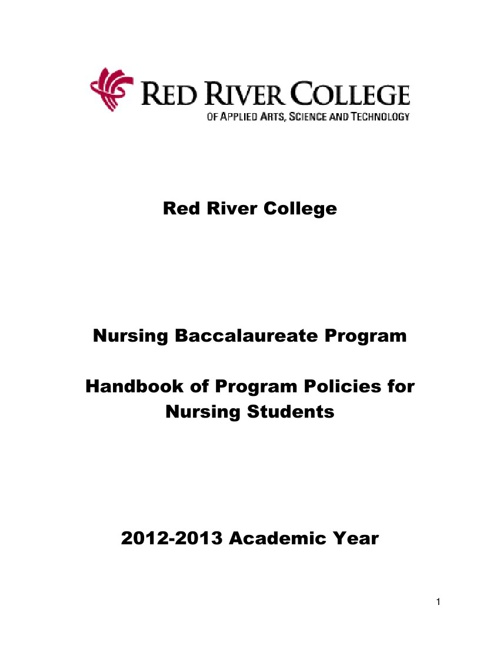 Handbook of Program Policies for Nursing Student
