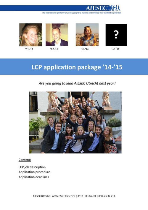 LCP package '14-'15