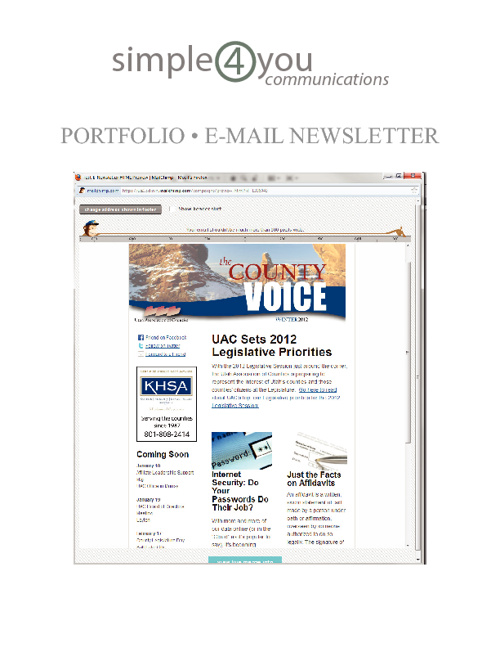 Simple4You Communcations - E-mail Newsletter