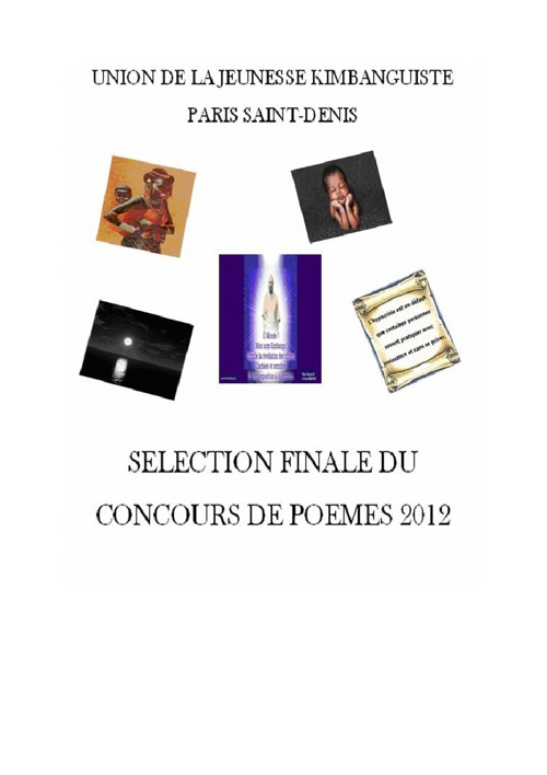 Sélection finale du concours de poèmes 2012