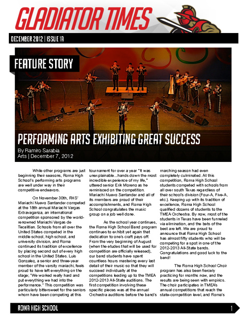December 2012   Issue 1A