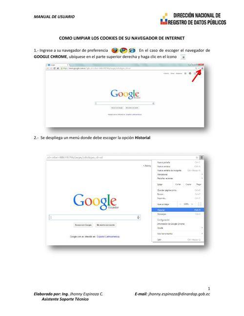 COMO LIMPIAR LOS COOKIES DE SU NAVEGADOR DE INTERNET