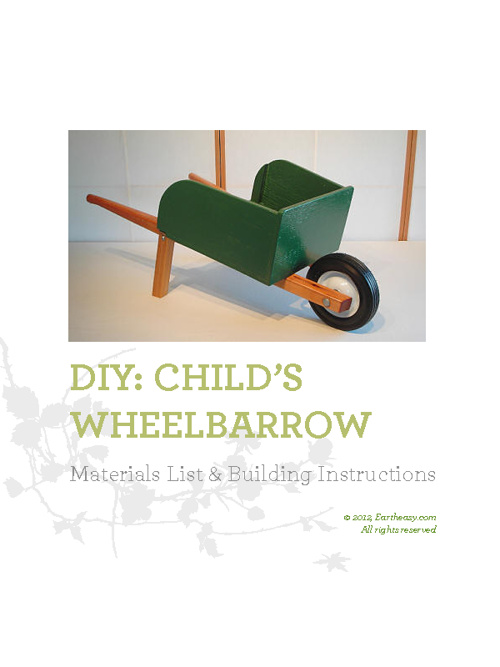 DIY: Child's Wheelbarrow Plans