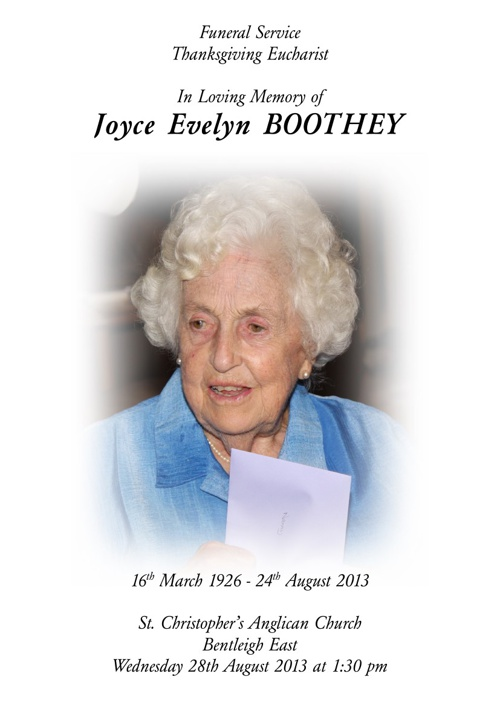 Joyce Boothey