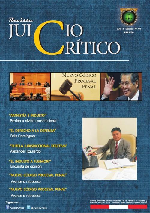 REVISTA JUICIO CRITICO CUARTA EDICION