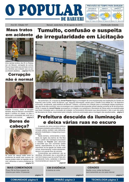 107ª edição do Jornal Popular de Barueri