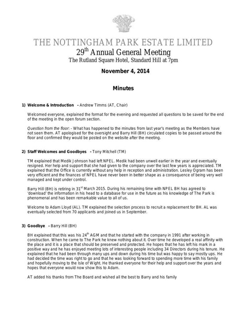 AGM Minutes 2014