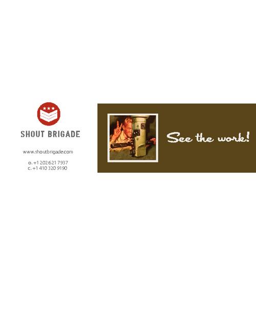 Shout Brigade Portfolio