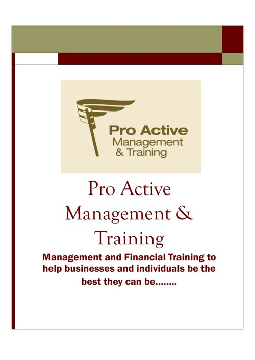PROACTIVE MANAGEMENT & TRAINING LTD - COURSE OVERVIEW