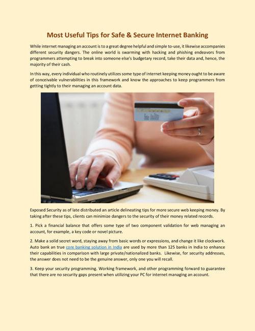 Most Useful Tips for Safe & Secure Internet Banking
