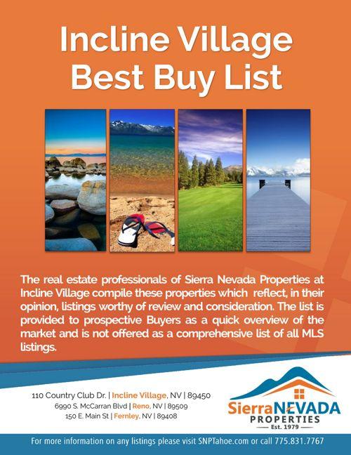 Best Buy List - SNP Incline July 14th