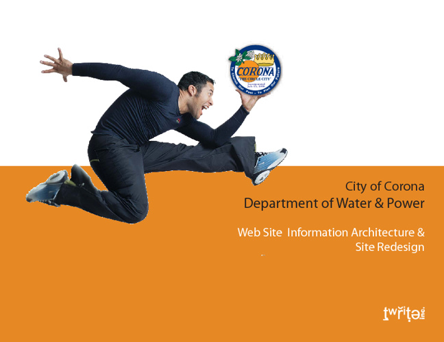 tWrite Proposal for City of Corona Department of Water & Power