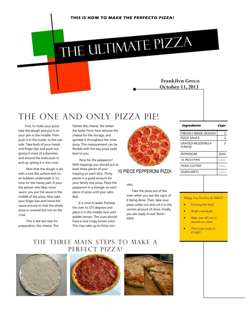 The Ultimate Pizza!
