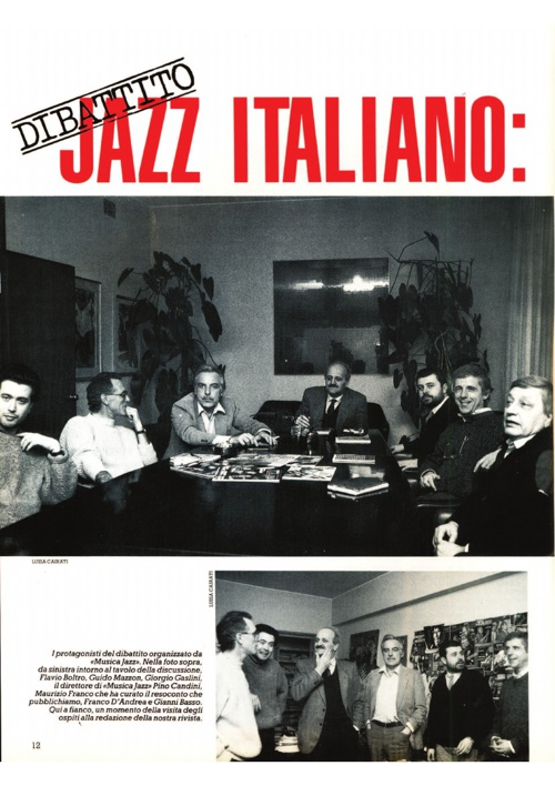Dibattito sul Jazz italiano