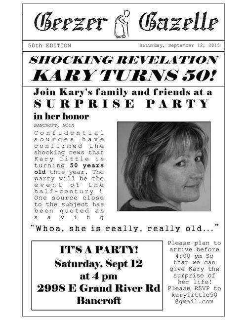 Extra! Extra! Kary is 50!