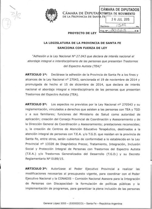 Avelino Lago - Adhesión a Ley Nacional N° 27043.