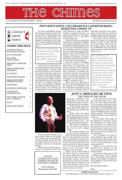 The Chimes: October-November 2013