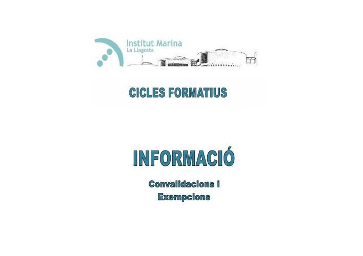 INFORMACIÓ CICLES
