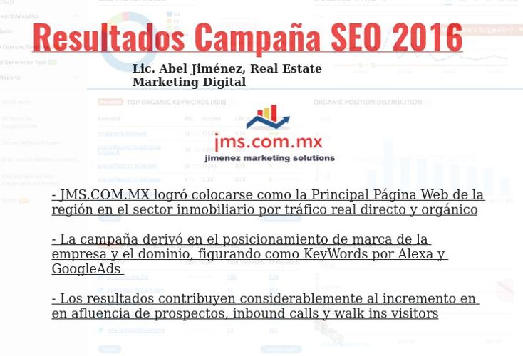 Abel Jimenez Marketing Digital Inmobiliario SEO Tijuana 2016
