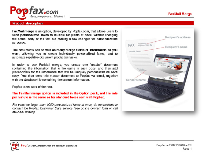 FaxMail merge