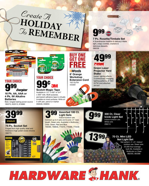 Shelby Paint and Hardware - November Flyer