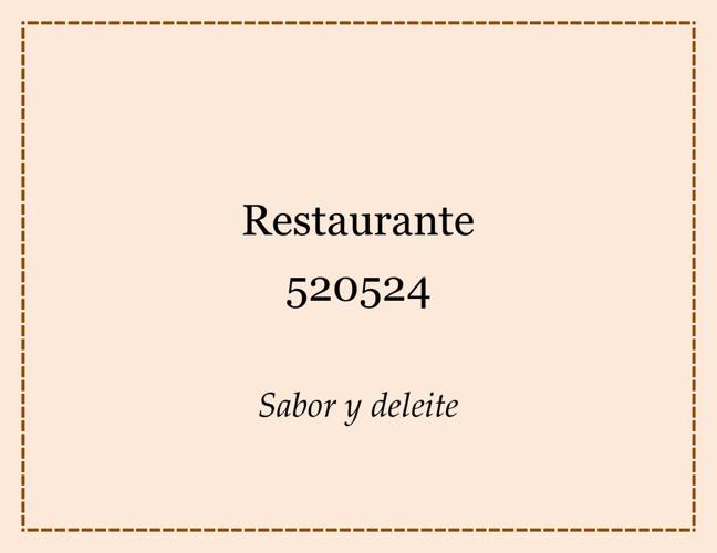 Restaurante 520524 CARTA