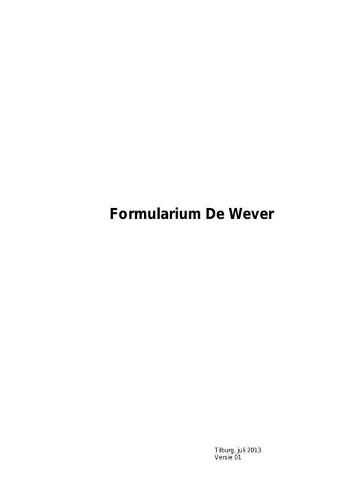 Formularium  (2013)