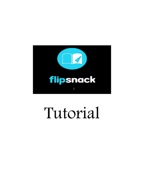 Tutorial Flipsnack