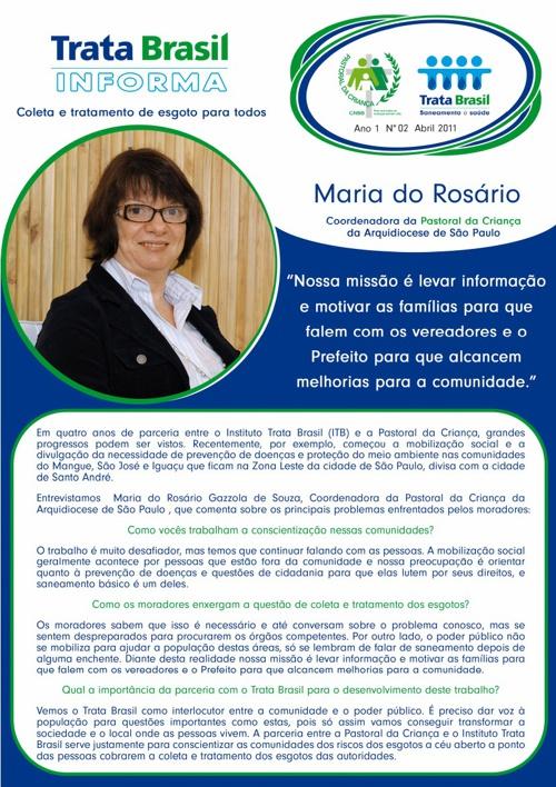 2ª Edição do Boletim Trata Brasil / Pastoral da Criança