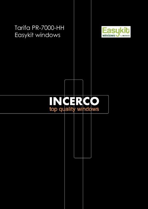 Tarifa PR-7000- HH Easykit windows
