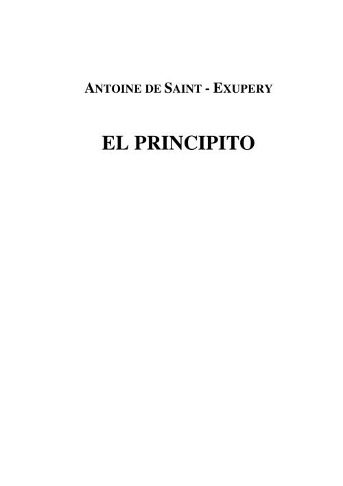 el principito pdf