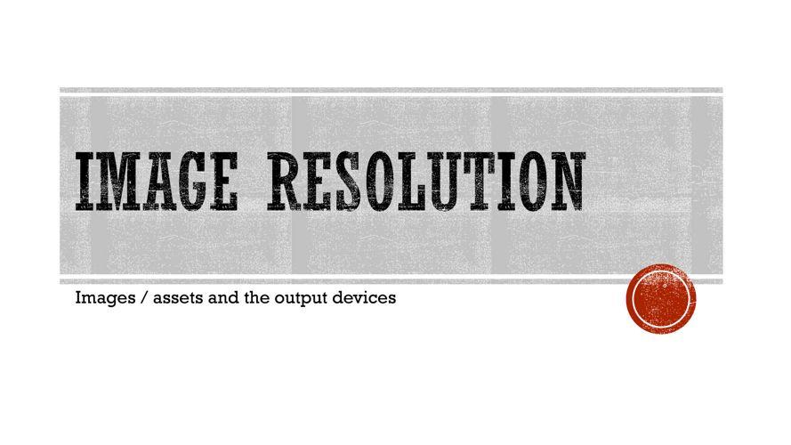 Image resolution task