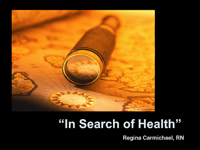 In Search of Health