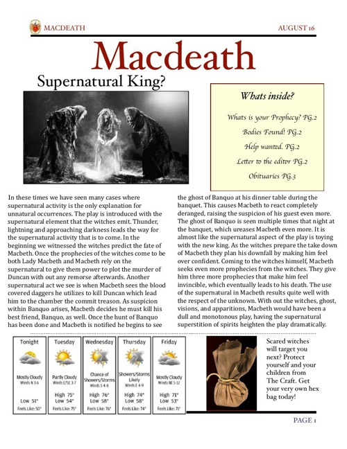 Macbeth Newslater_grp4