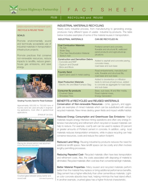 GHP FS3 RECYCLING & REUSE