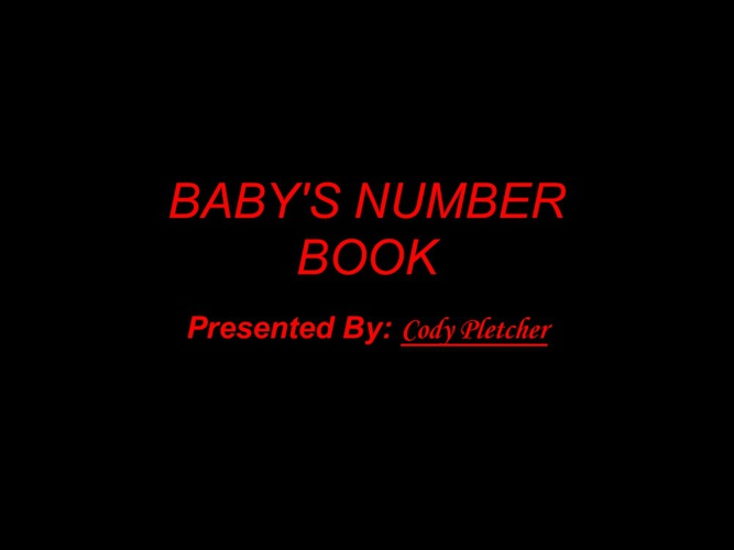 Baby's Number Book