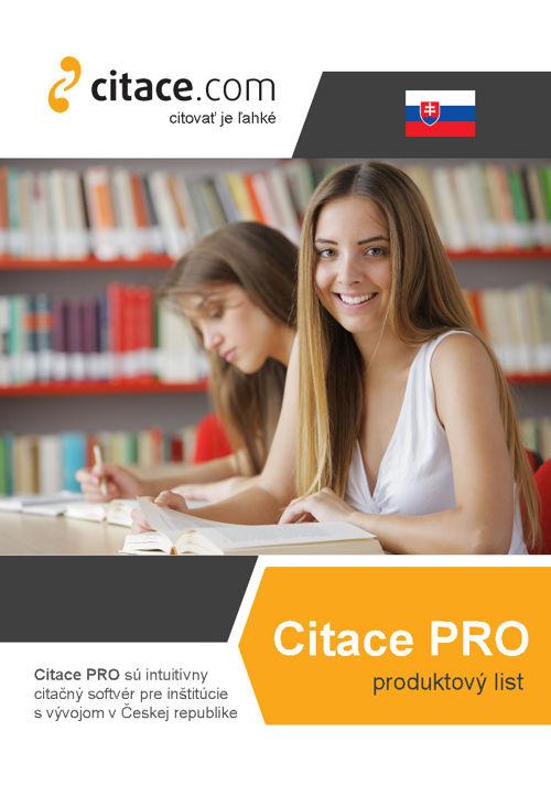 Citace PRO - produktový list (slovensky)