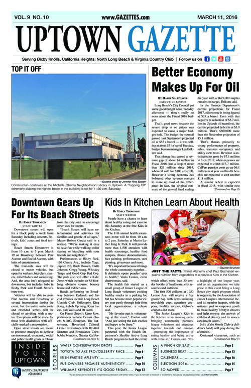 Uptown Gazette  |  March 11, 2016