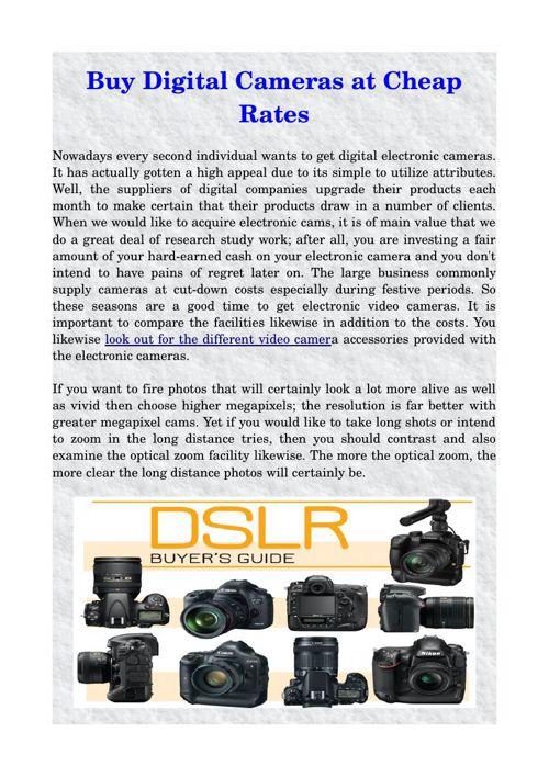 Buy Digital Cameras at Cheap Rates