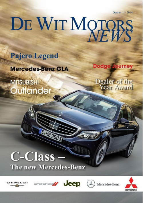 De Wit Motors Newsletter March 2014