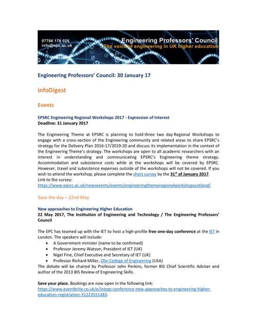 Engineering Professors' Council infoDigest 30 Jan 17