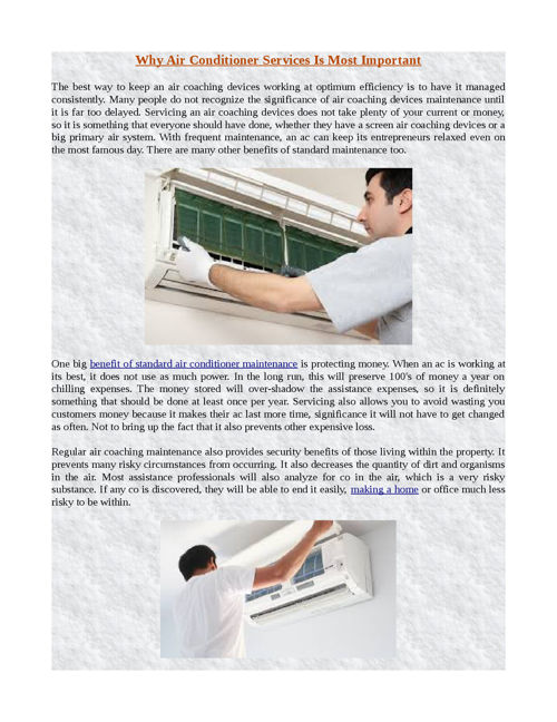 Why Air Conditioner Services Is Most Important