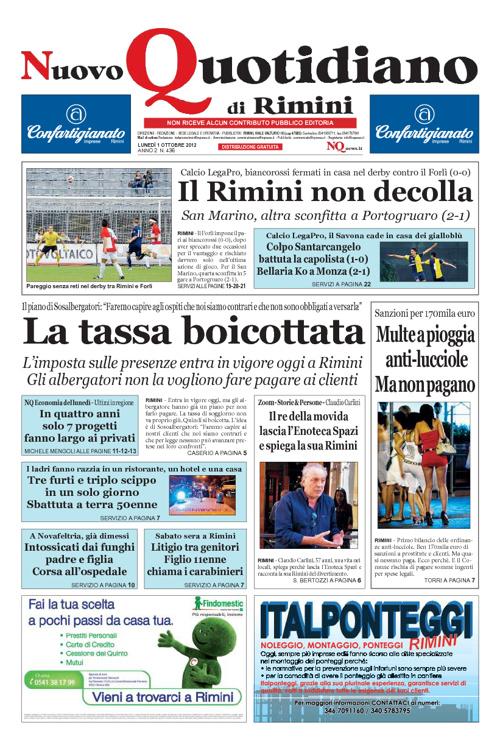 Nuovo Quotidiano Rimini 1 ottobre