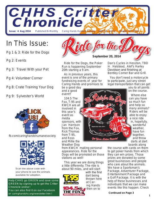 Critter Chronicle Issue 4 August 2014