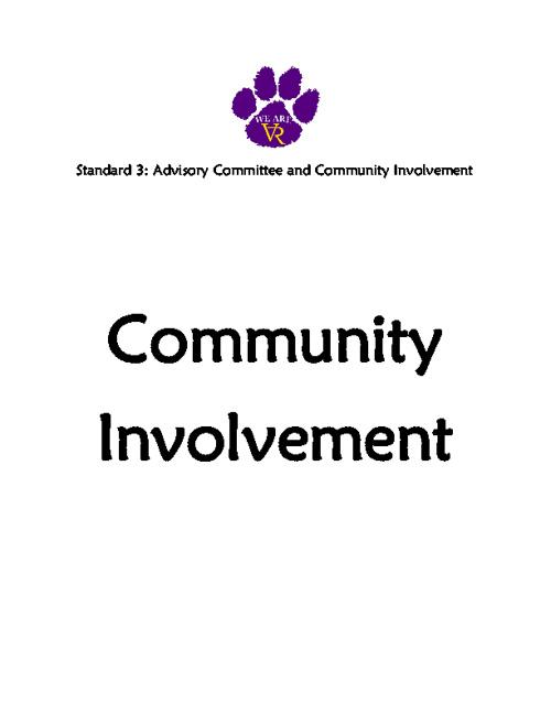 Standard 3: #37 Community Involvement