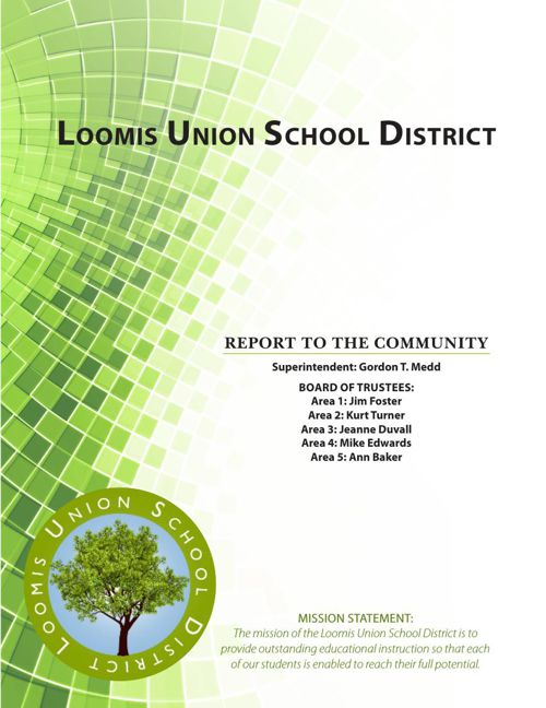 Loomis Union School District - Report to the Community