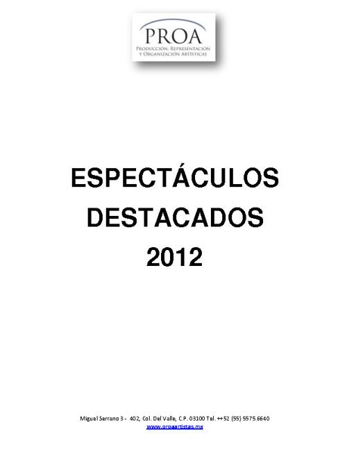 Destacados 2012