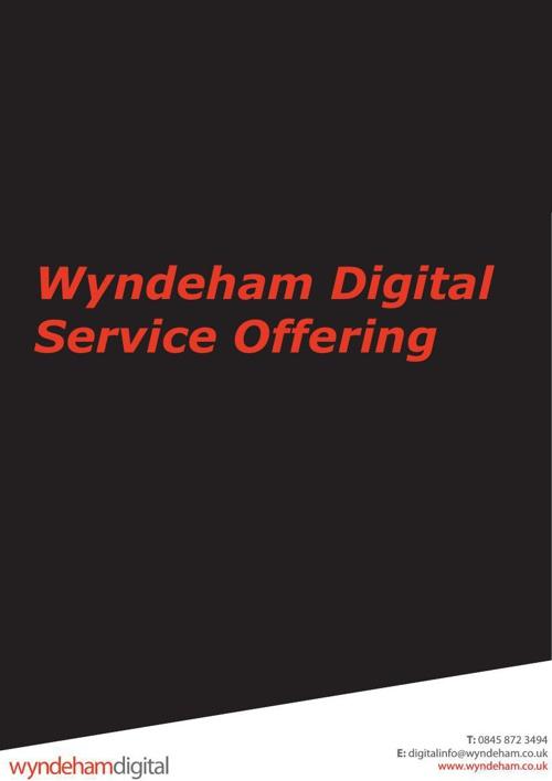 Wyndeham Digital Service Offering