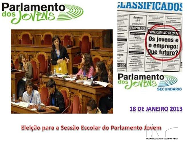 Eleição para a sessão escolar do parlamento jovem -