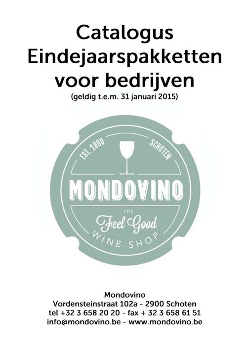 Catalogus eindejaarspakketten Mondovino